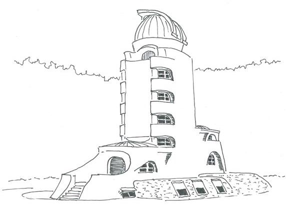 Einsteinturm Zeichnung klein