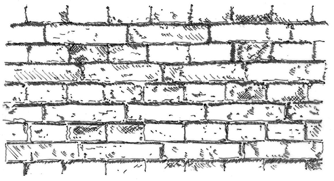 backsteinwand sw klein