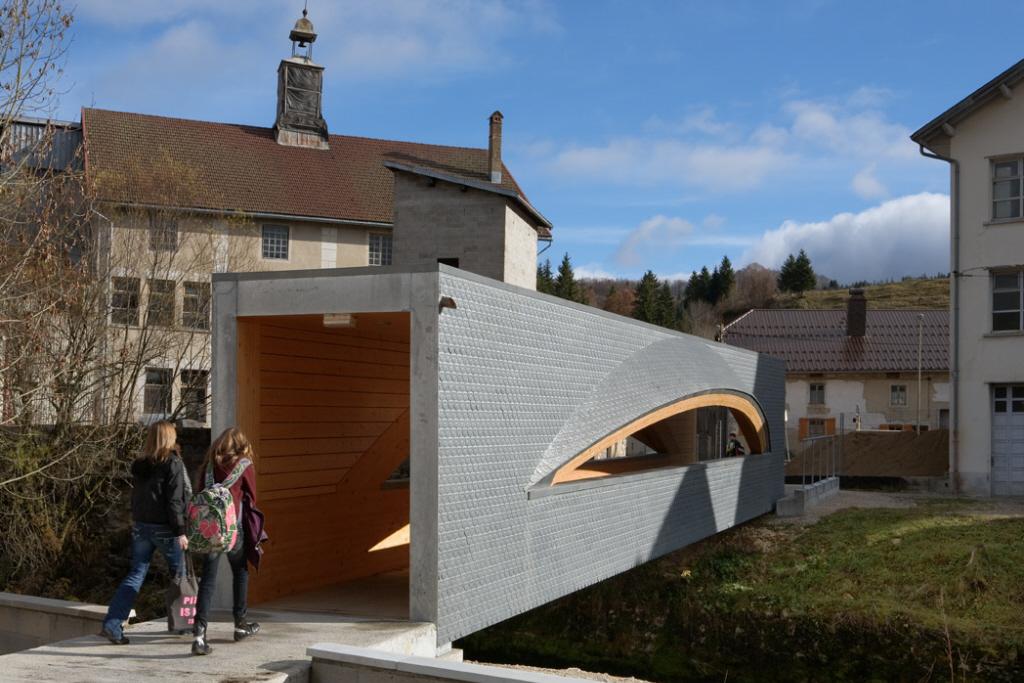 Passerelle, Foncine-le-Haut (France)